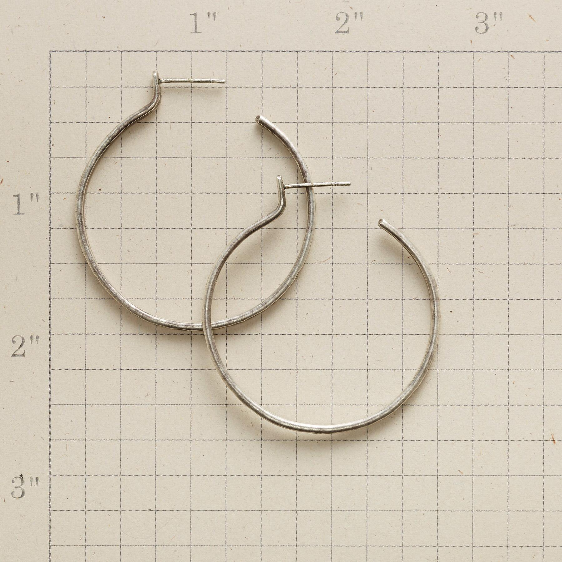 RUSTICO STERLING HOOP EARRINGS: View 2