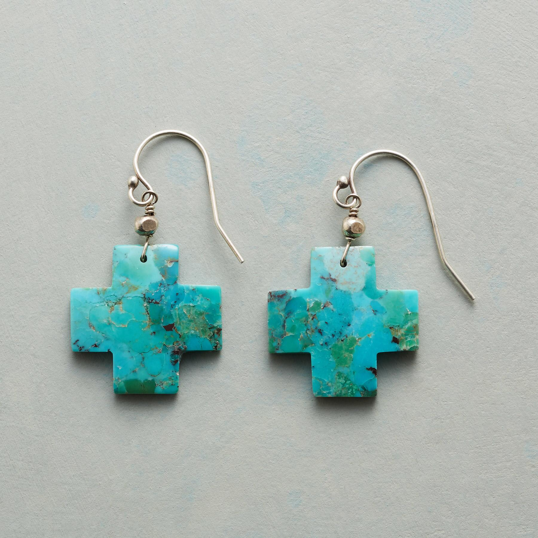 TURQUOISE CROSSROADS EARRINGS: View 1