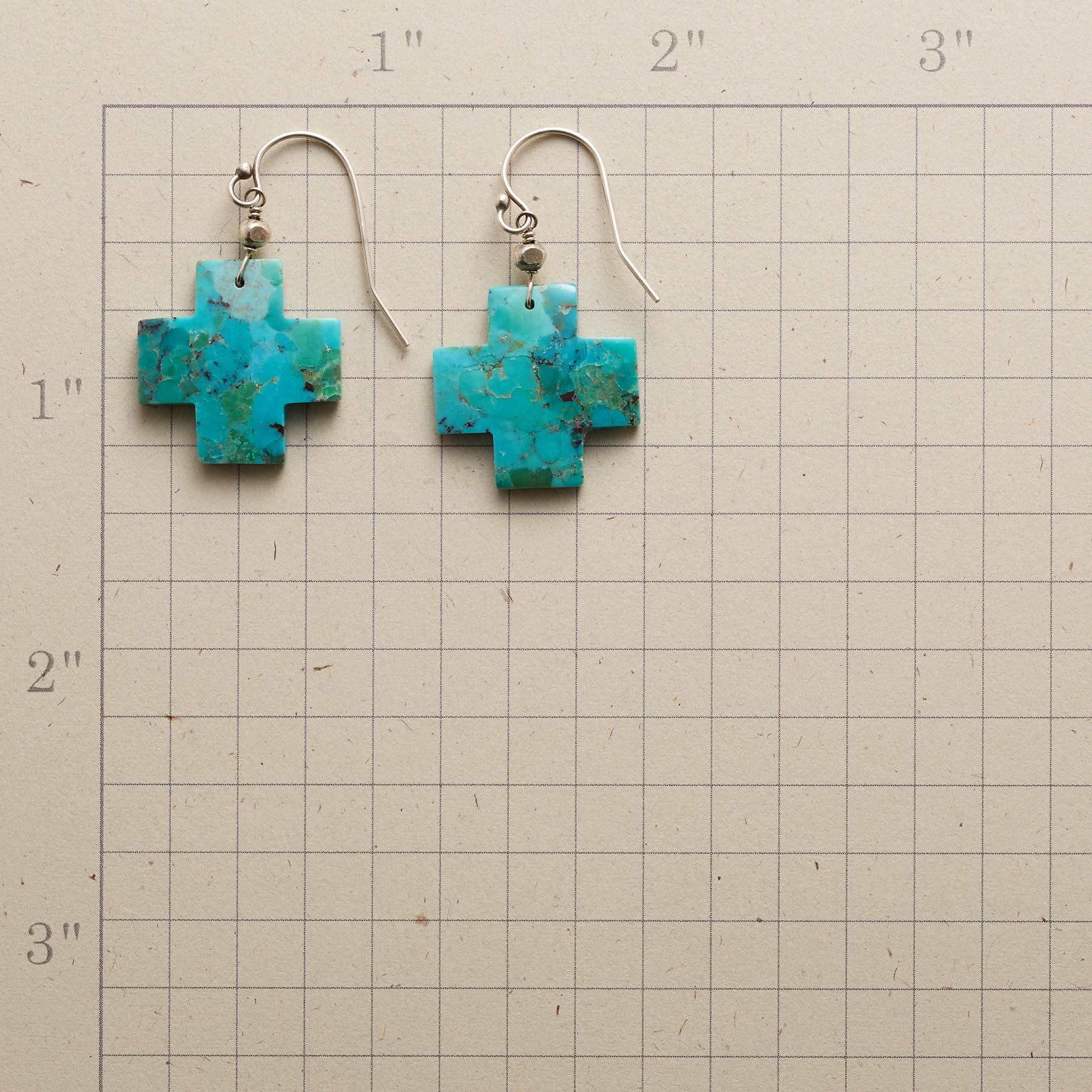 TURQUOISE CROSSROADS EARRINGS: View 2