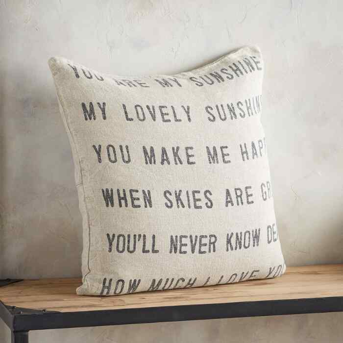 YOU ARE MY SUNSHINE LINEN PILLOW