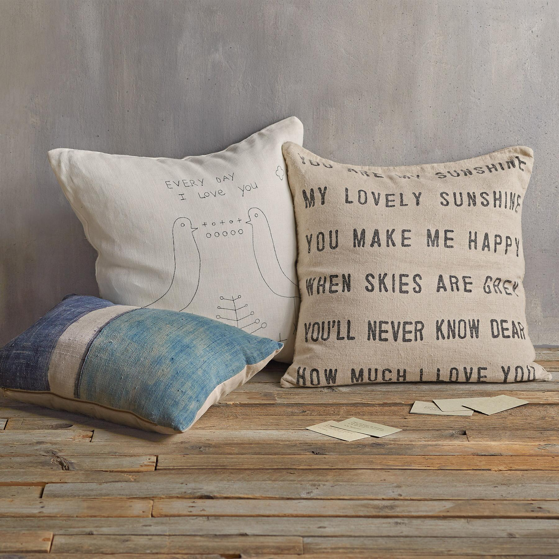 YOU ARE MY SUNSHINE LINEN PILLOW: View 2