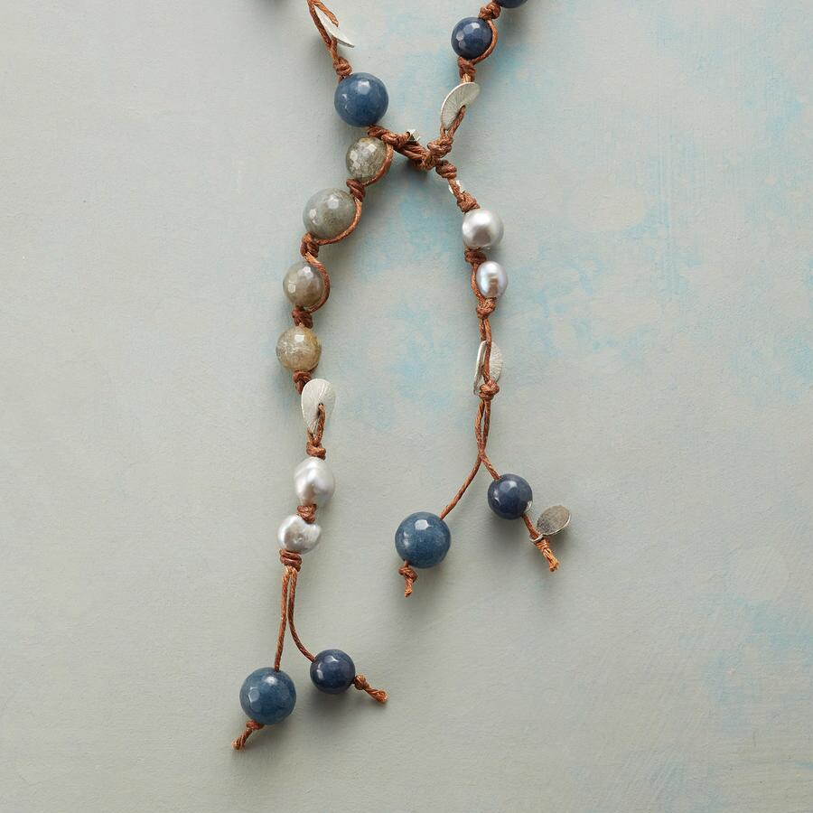 BELOVED BLUES LARIAT NECKLACE