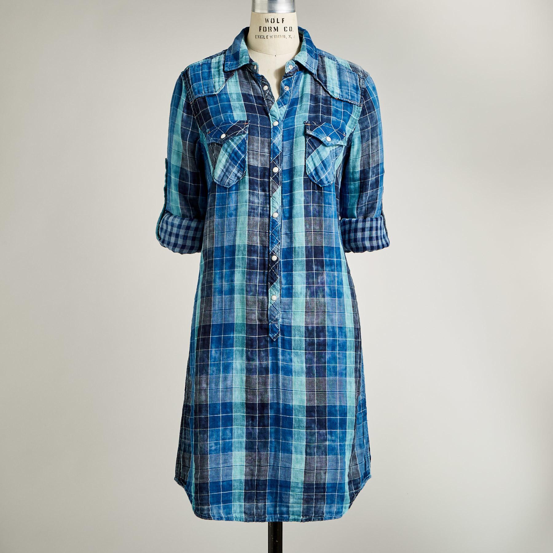 SILVERTON DUAL PLAID DRESS: View 2