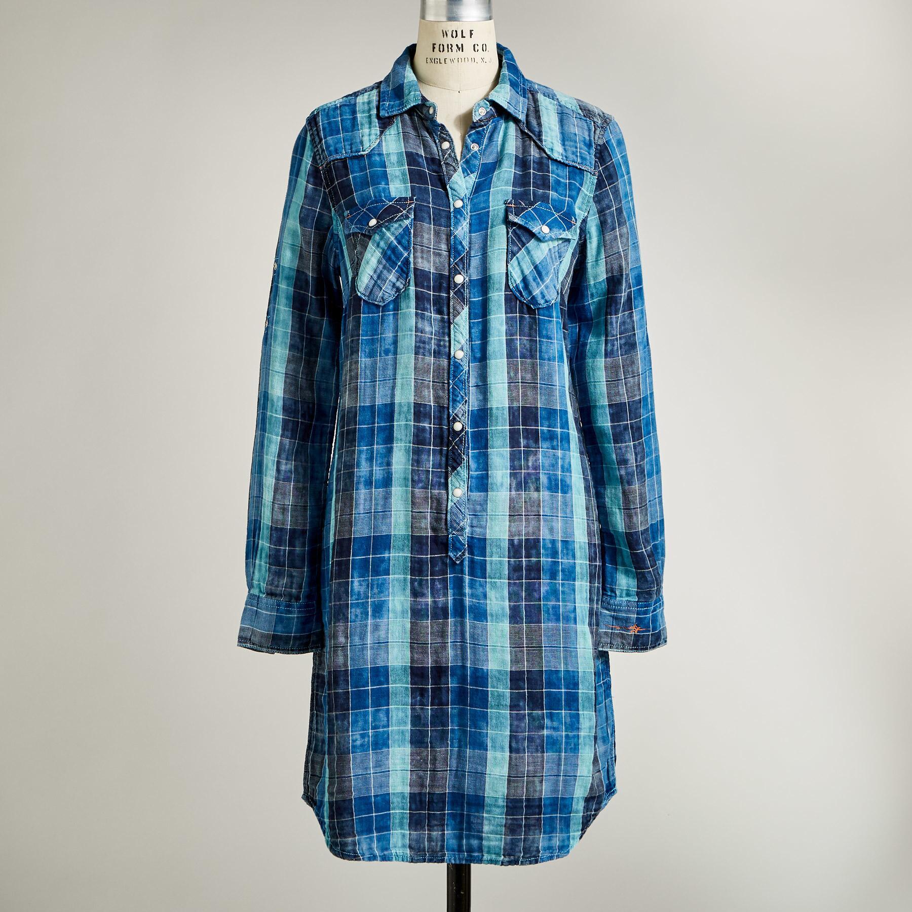 SILVERTON DUAL PLAID DRESS: View 3