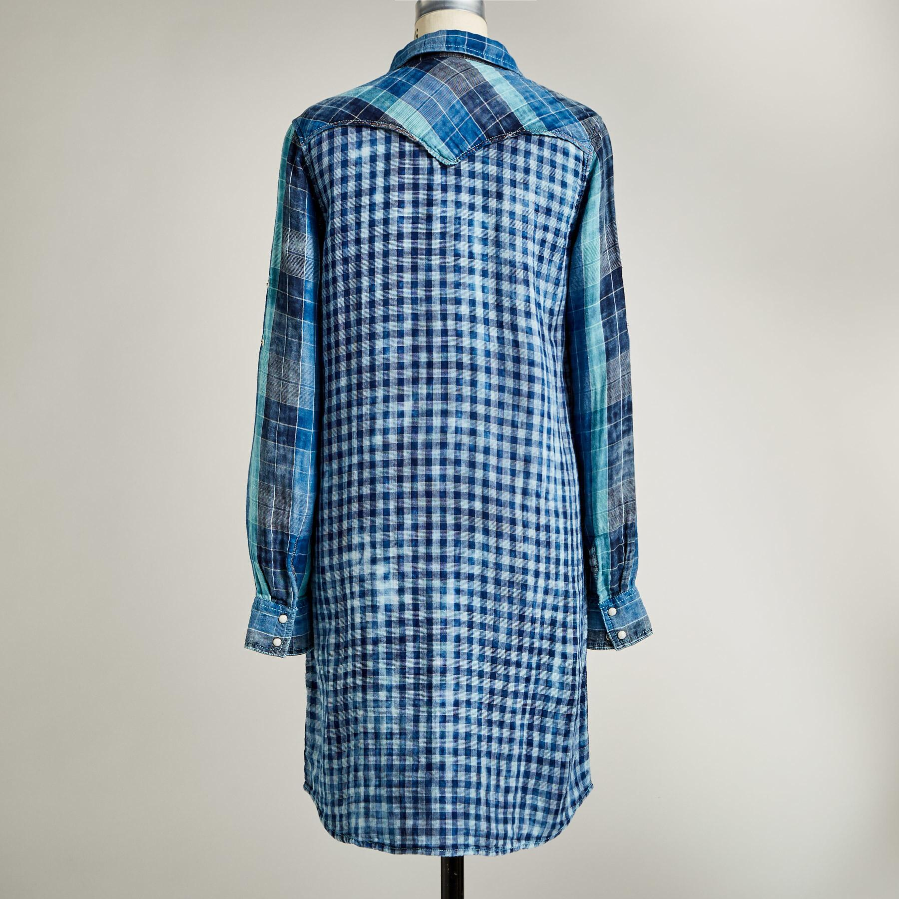 SILVERTON DUAL PLAID DRESS: View 4