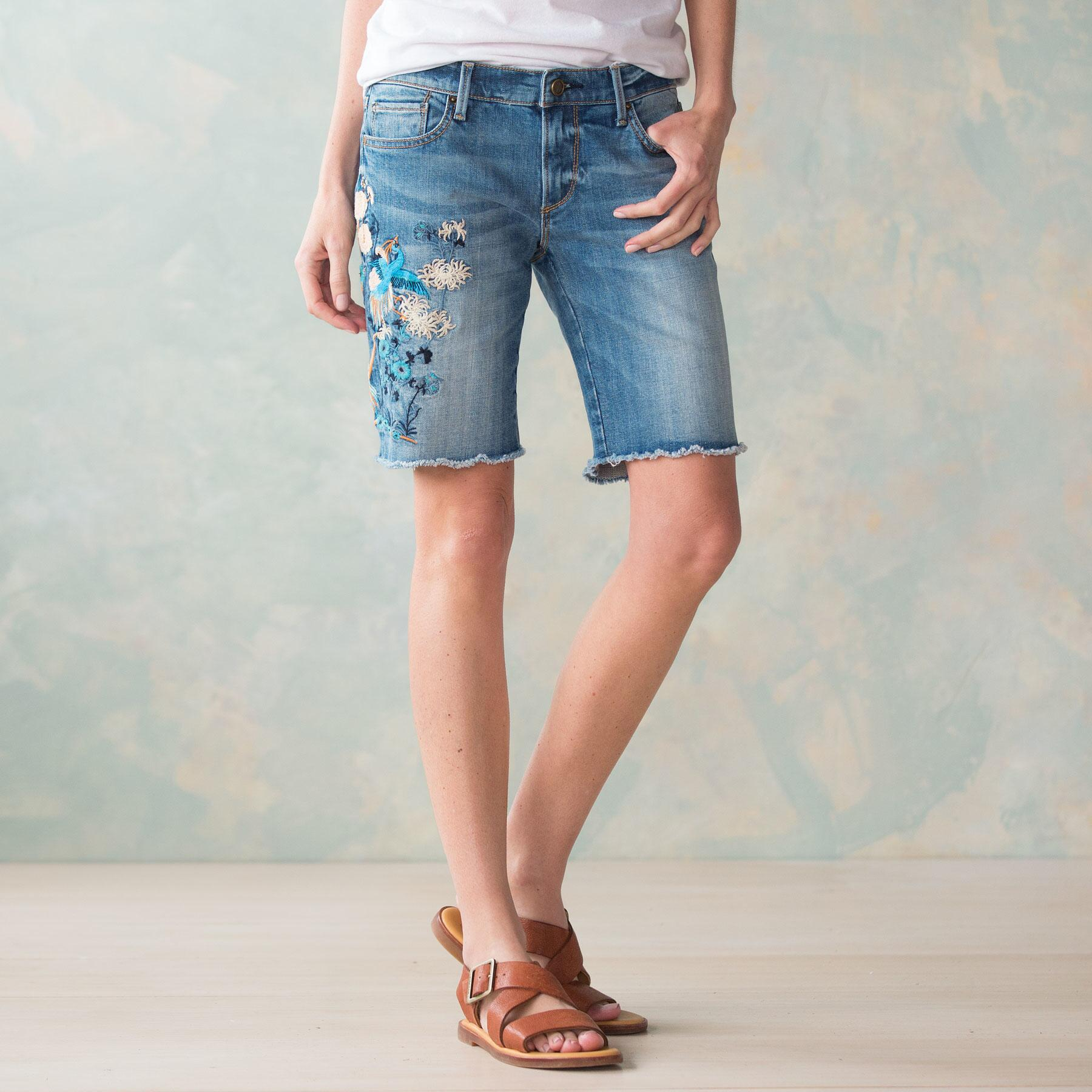 BERMUDA EMBROIDERED SHORTS BY DRIFTWOOD: View 1