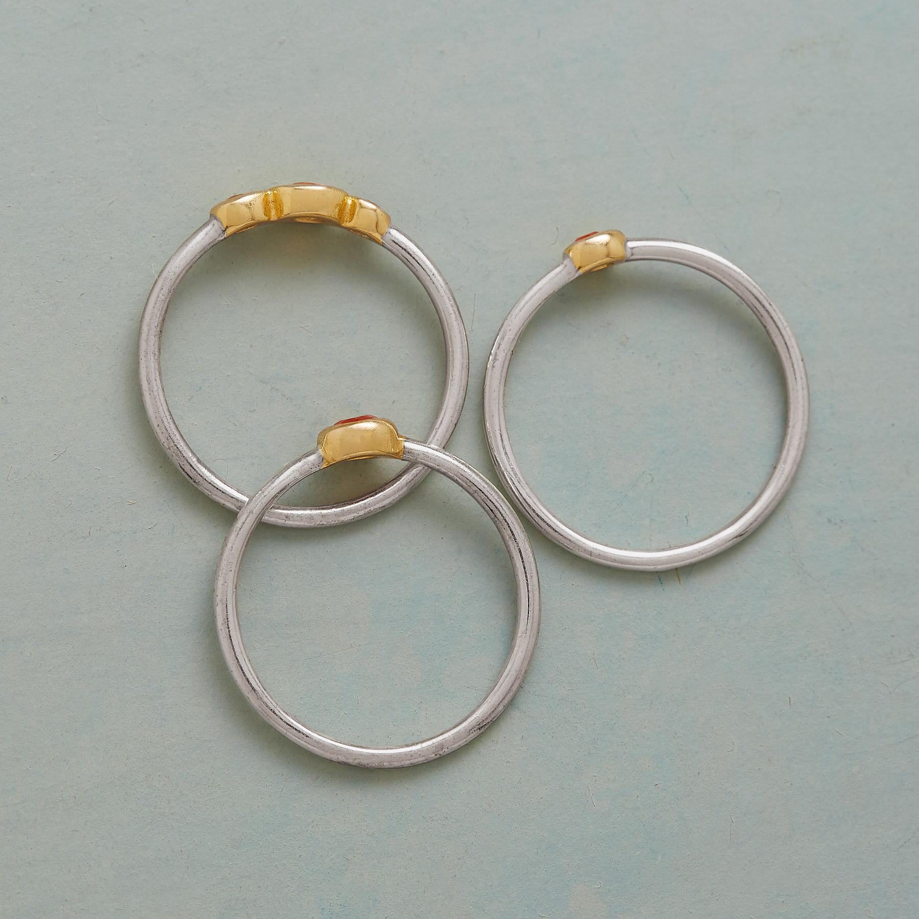 MERCURY RISING RINGS, SET OF 3: View 2