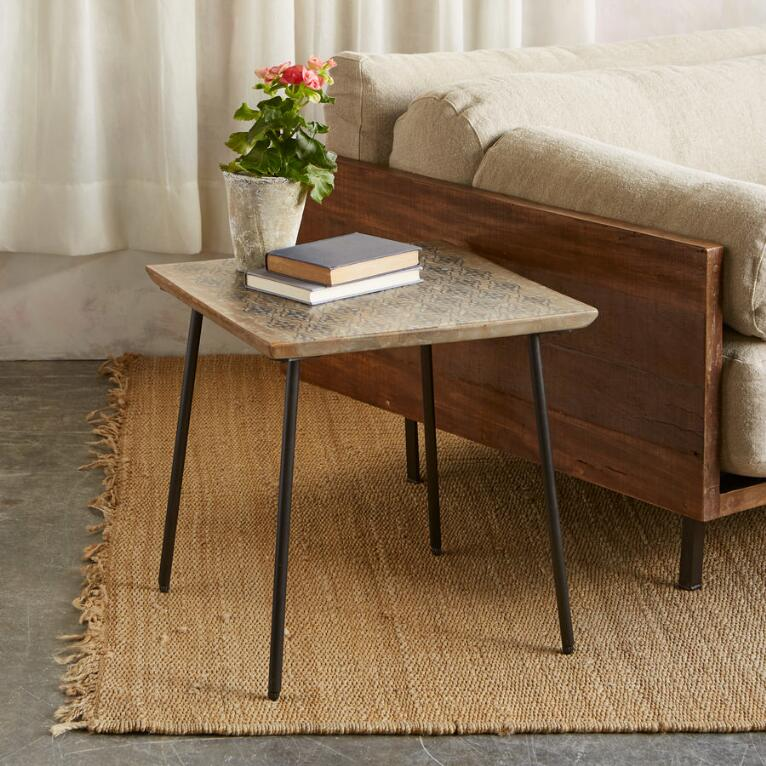 WORLD PRINT SIDE TABLE