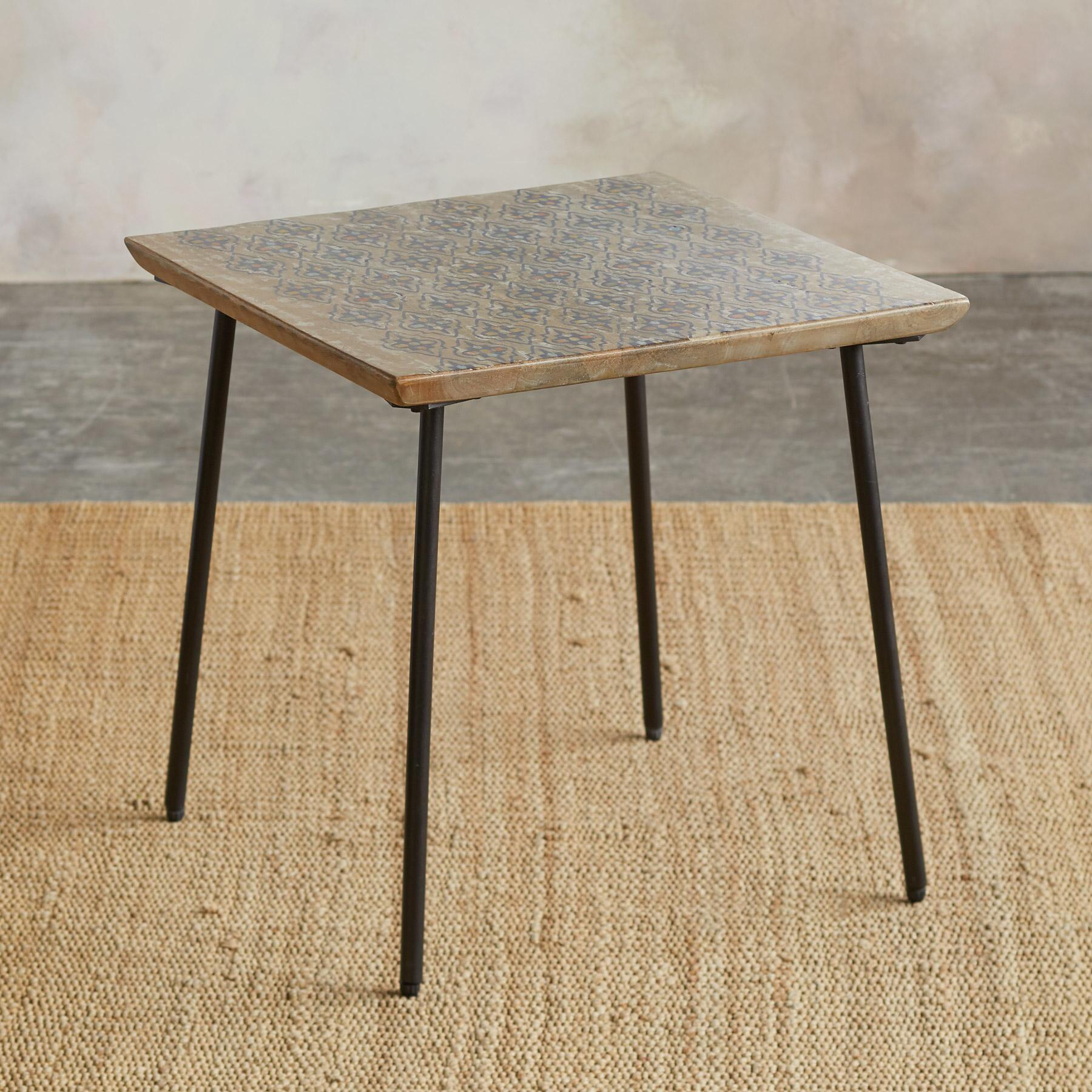 WORLD PRINT SIDE TABLE: View 2