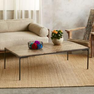 WORLD PRINT COFFEE TABLE