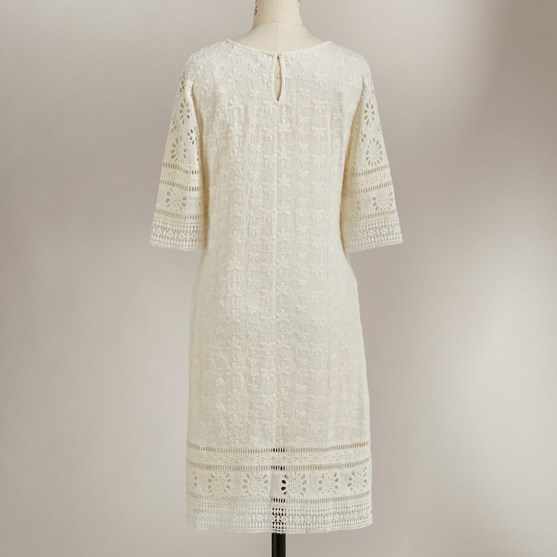 ALLOVER EYELET DRESS: View 2