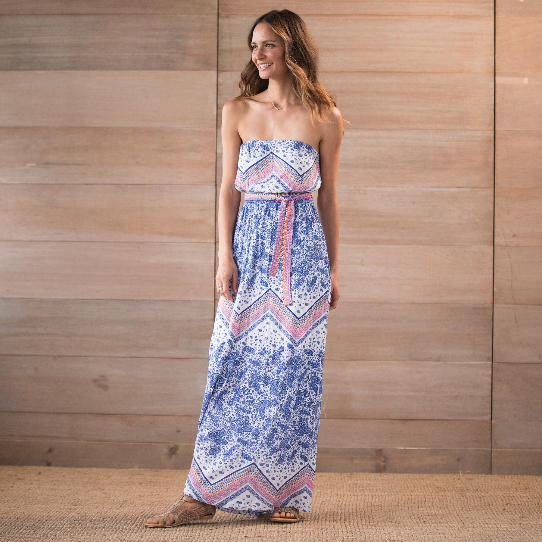 PAISLEY SCARF IMAN MAXI DRESS: View 1