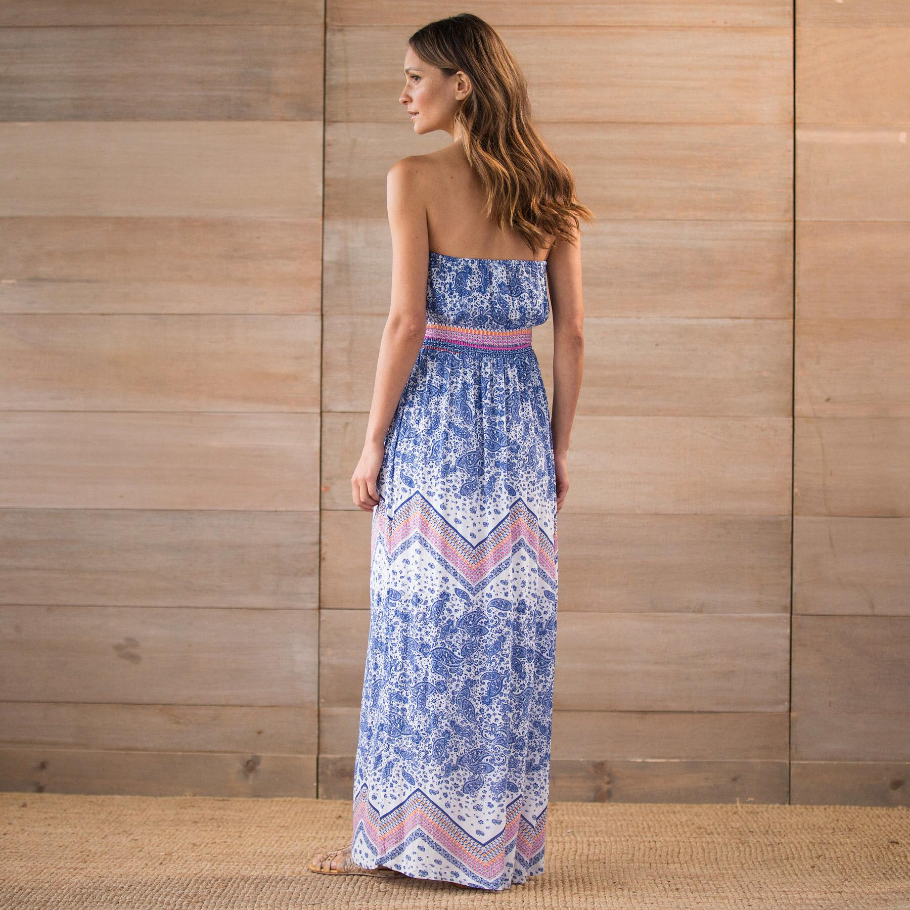 PAISLEY SCARF IMAN MAXI DRESS: View 2
