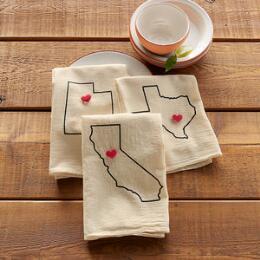 I LOVE MY STATE TEA TOWEL