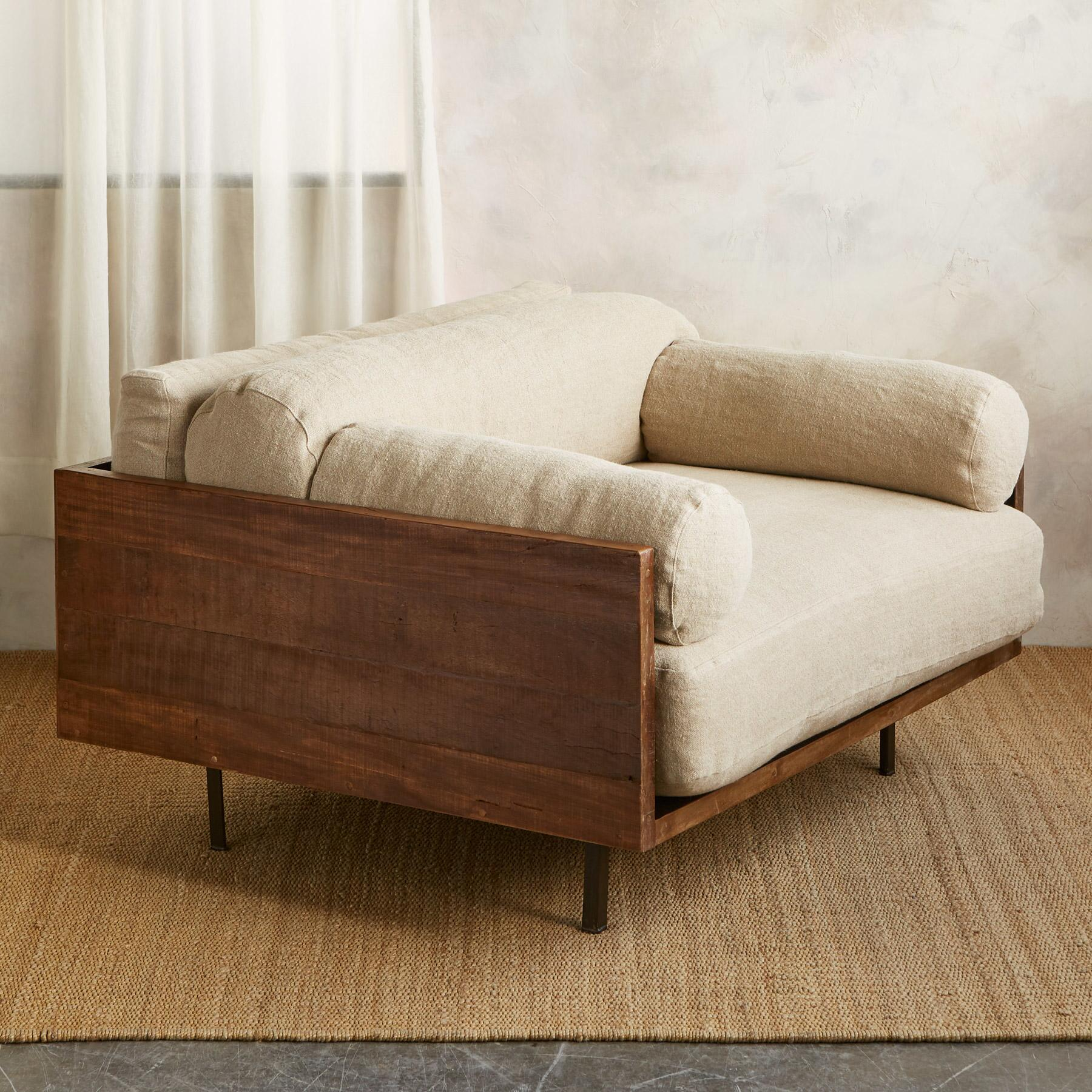 LOGAN CHAIR AND A HALF, NATURAL BOLSTER: View 2