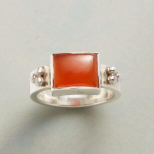 THREE DOT CARNELIAN RING