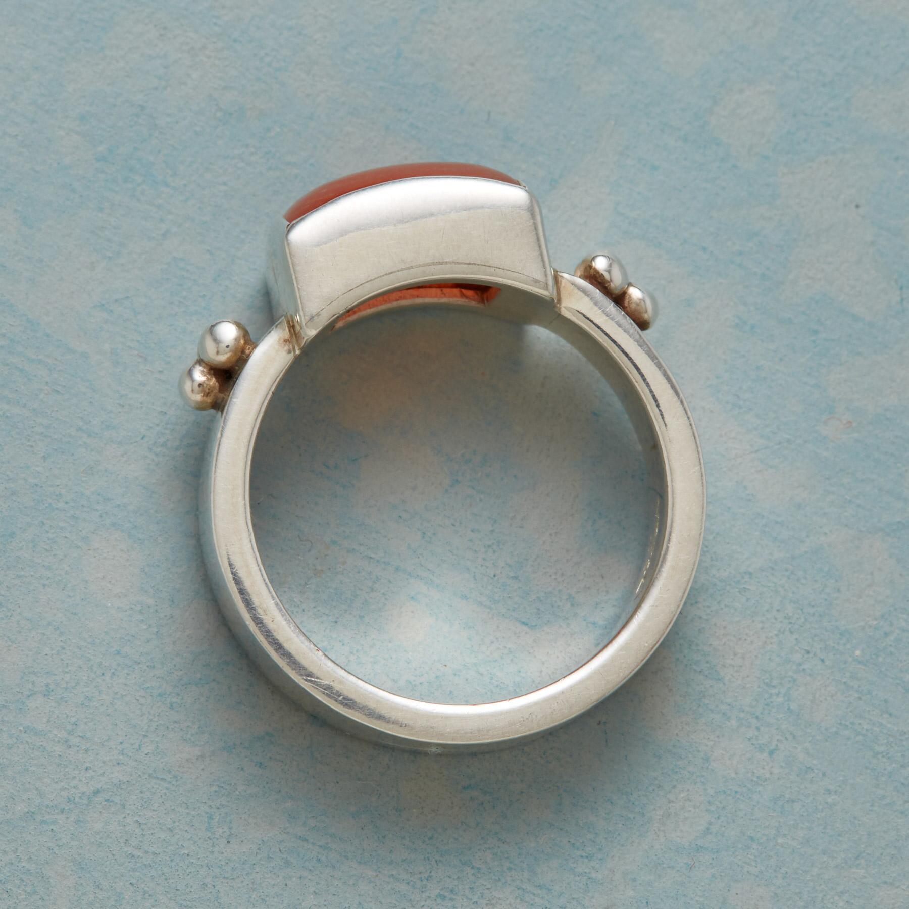 THREE DOT CARNELIAN RING: View 2