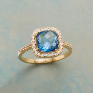 DAZZLING BLUE TOPAZ RING