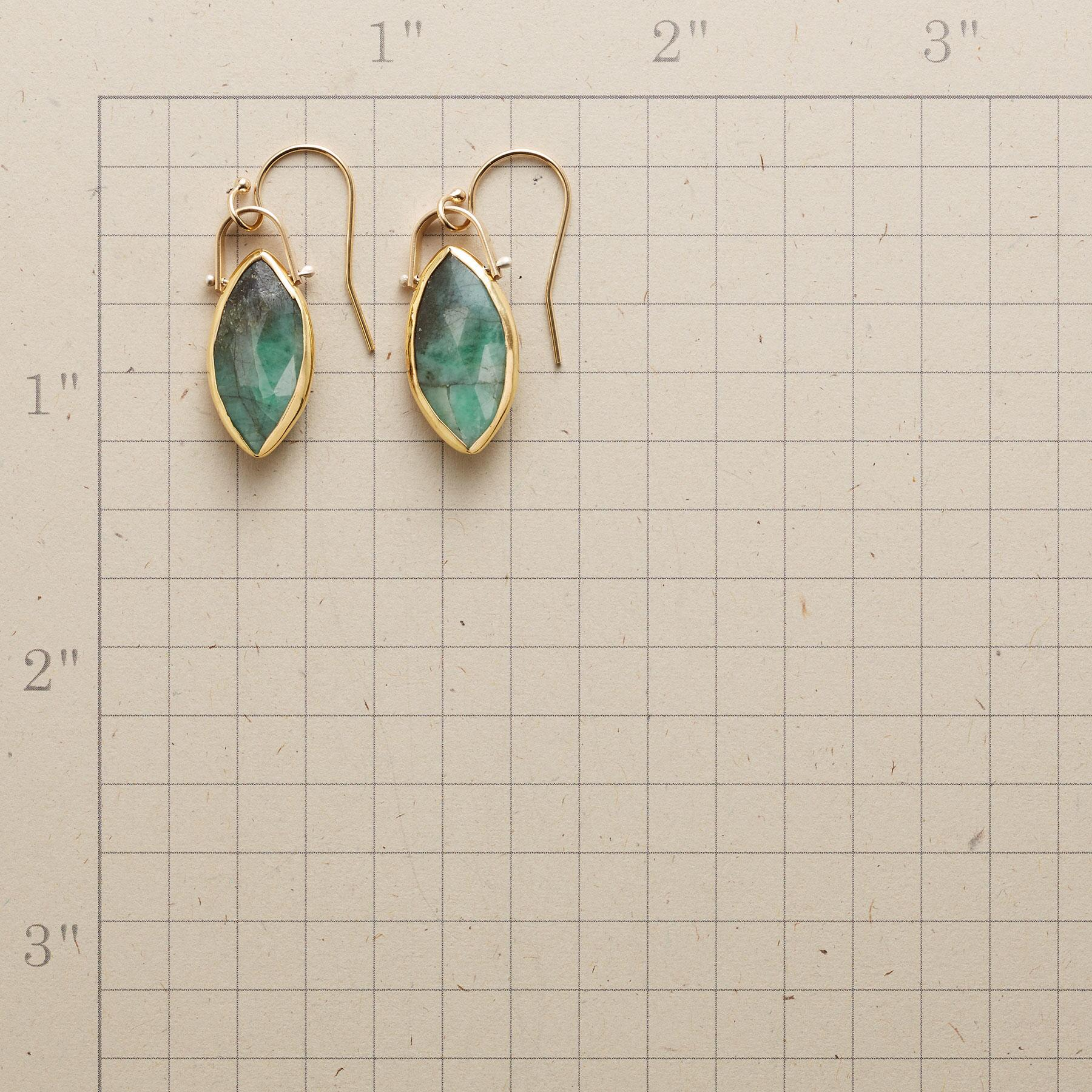 EMERALD MARQUISE EARRINGS: View 2