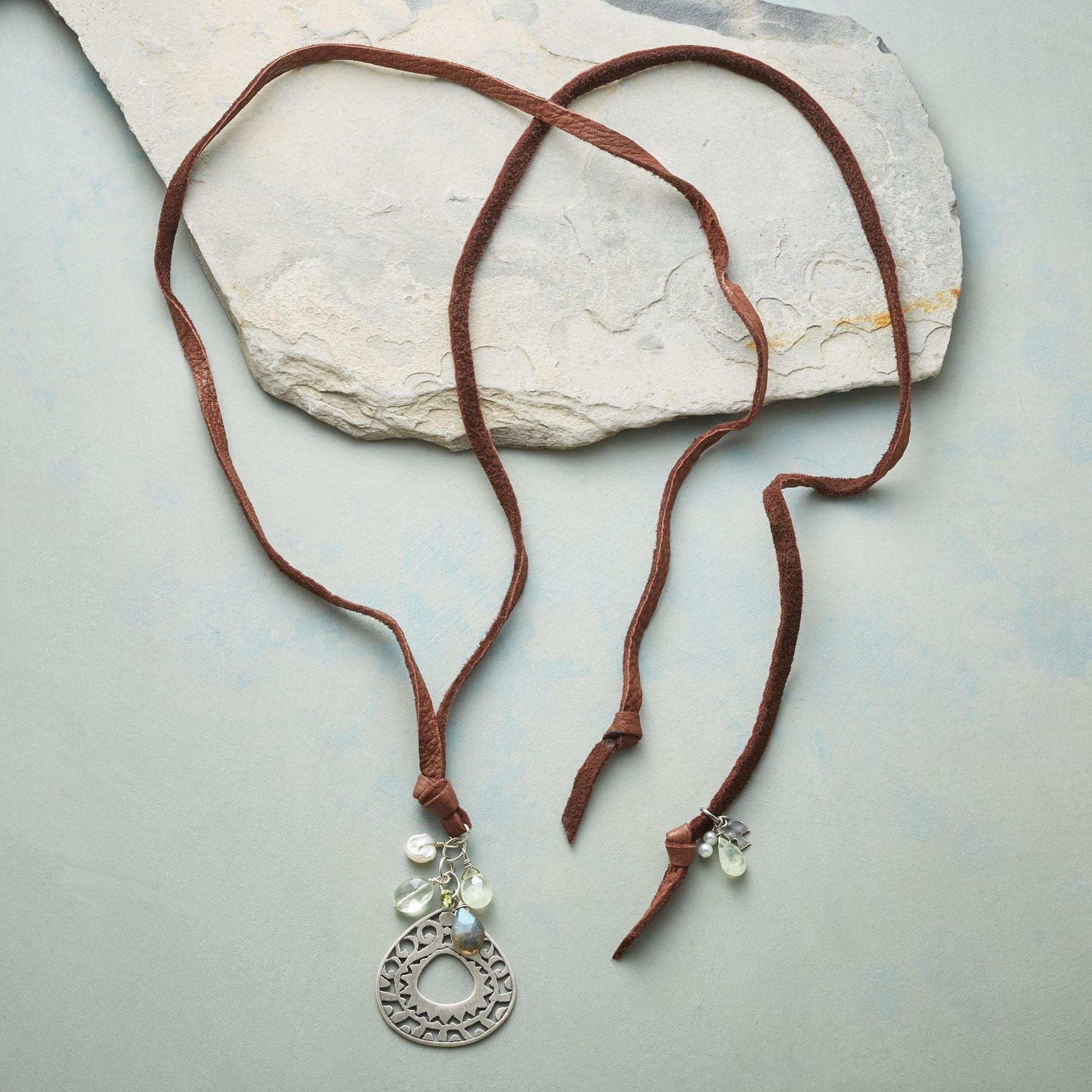 LEATHER LANYARD NECKLACE: View 2