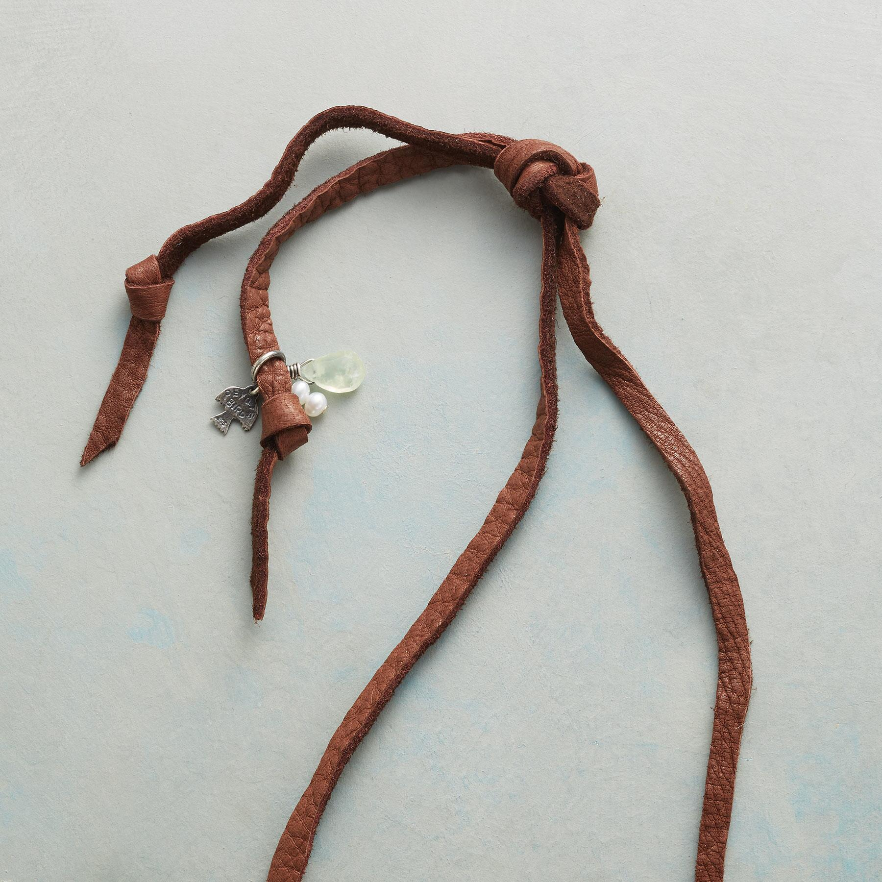 LEATHER LANYARD NECKLACE: View 3