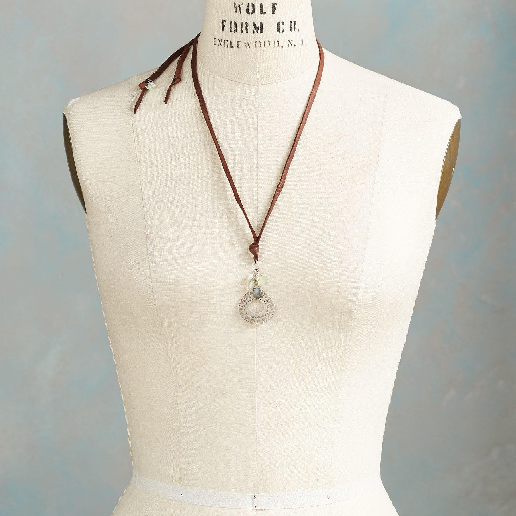 LEATHER LANYARD NECKLACE: View 4