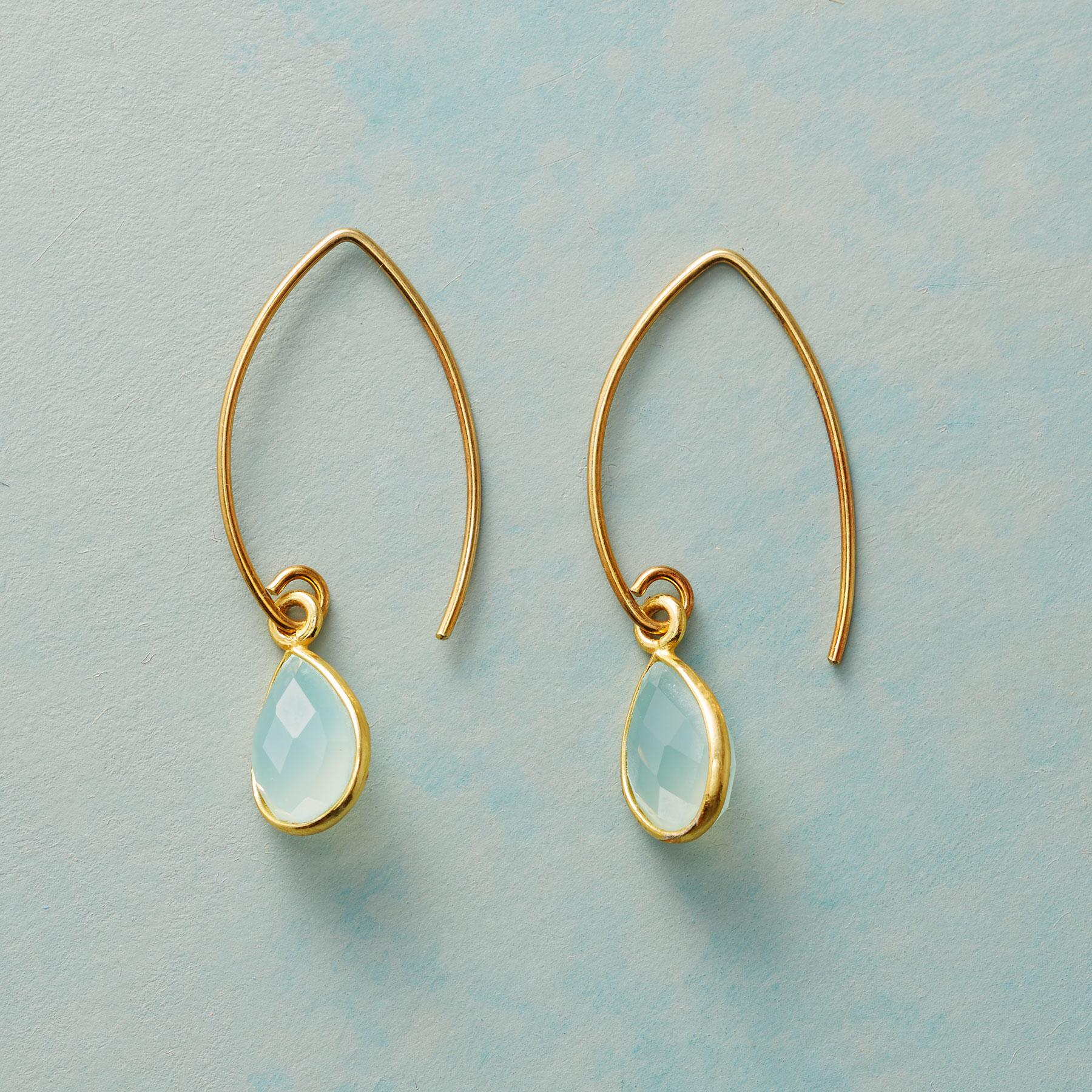 CHARMED BY CHALCEDONY EARRINGS: View 1