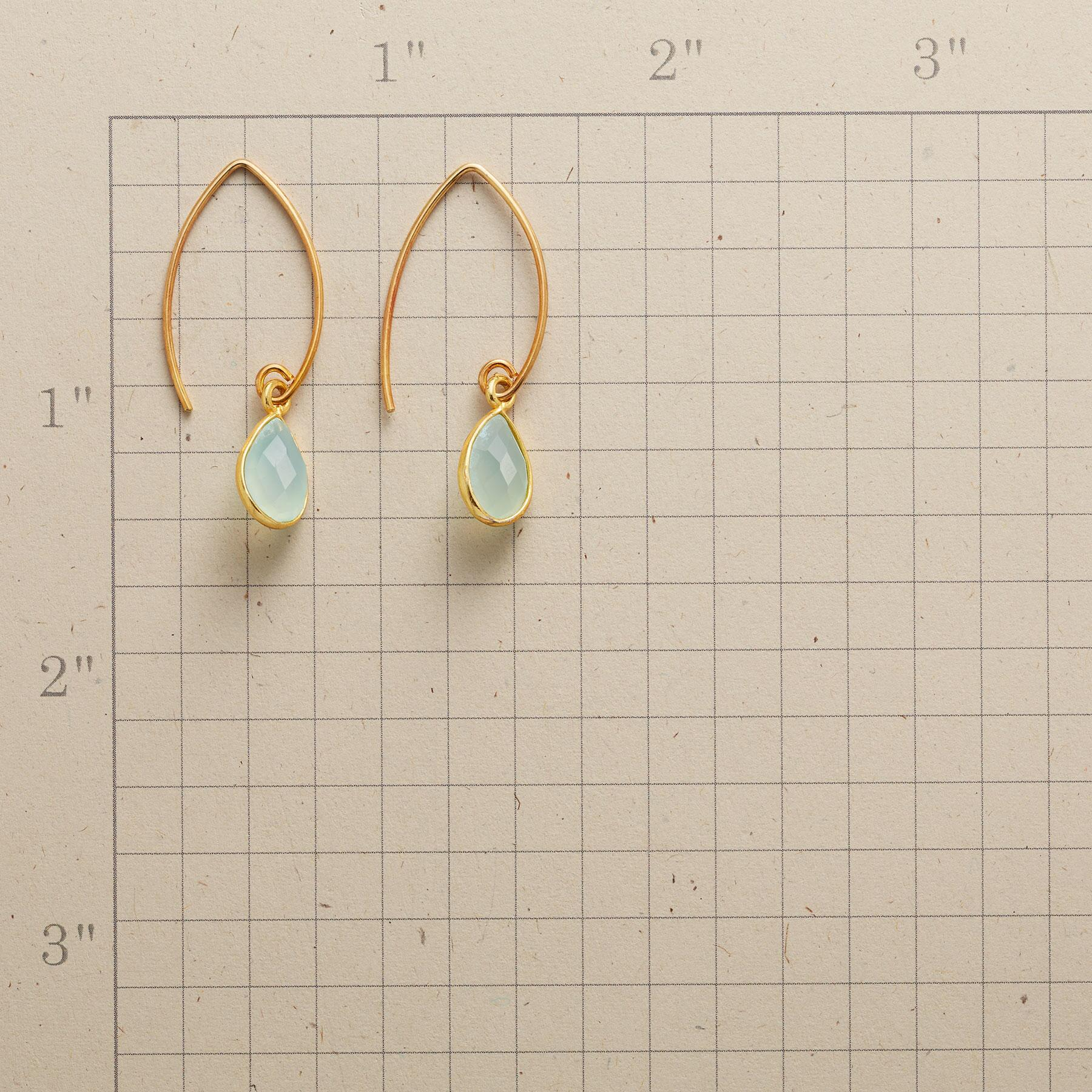 CHARMED BY CHALCEDONY EARRINGS: View 2