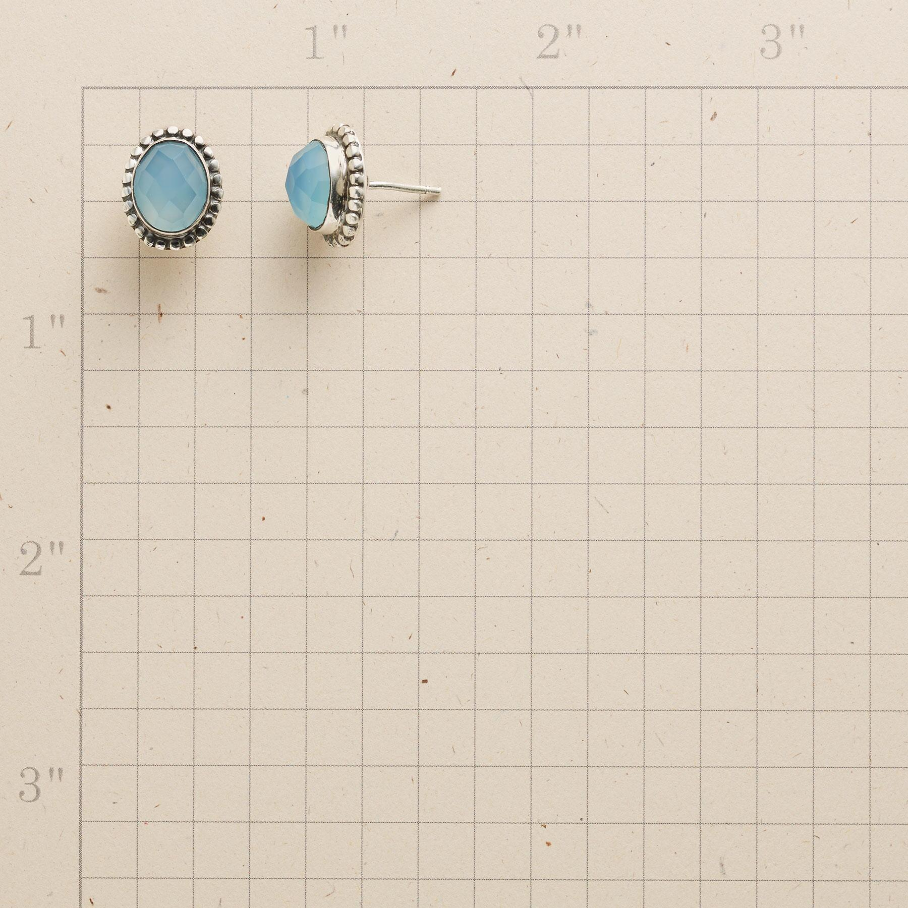 BEADED BLUE EARRINGS: View 2