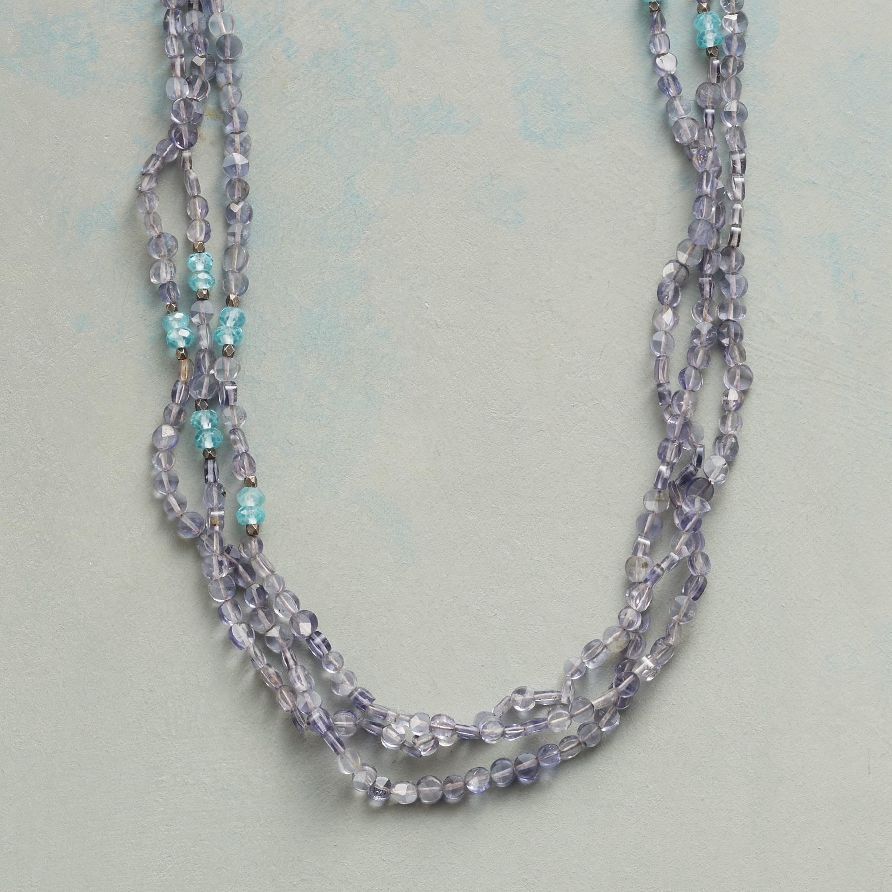 BLUE RAINBOW NECKLACE: View 1