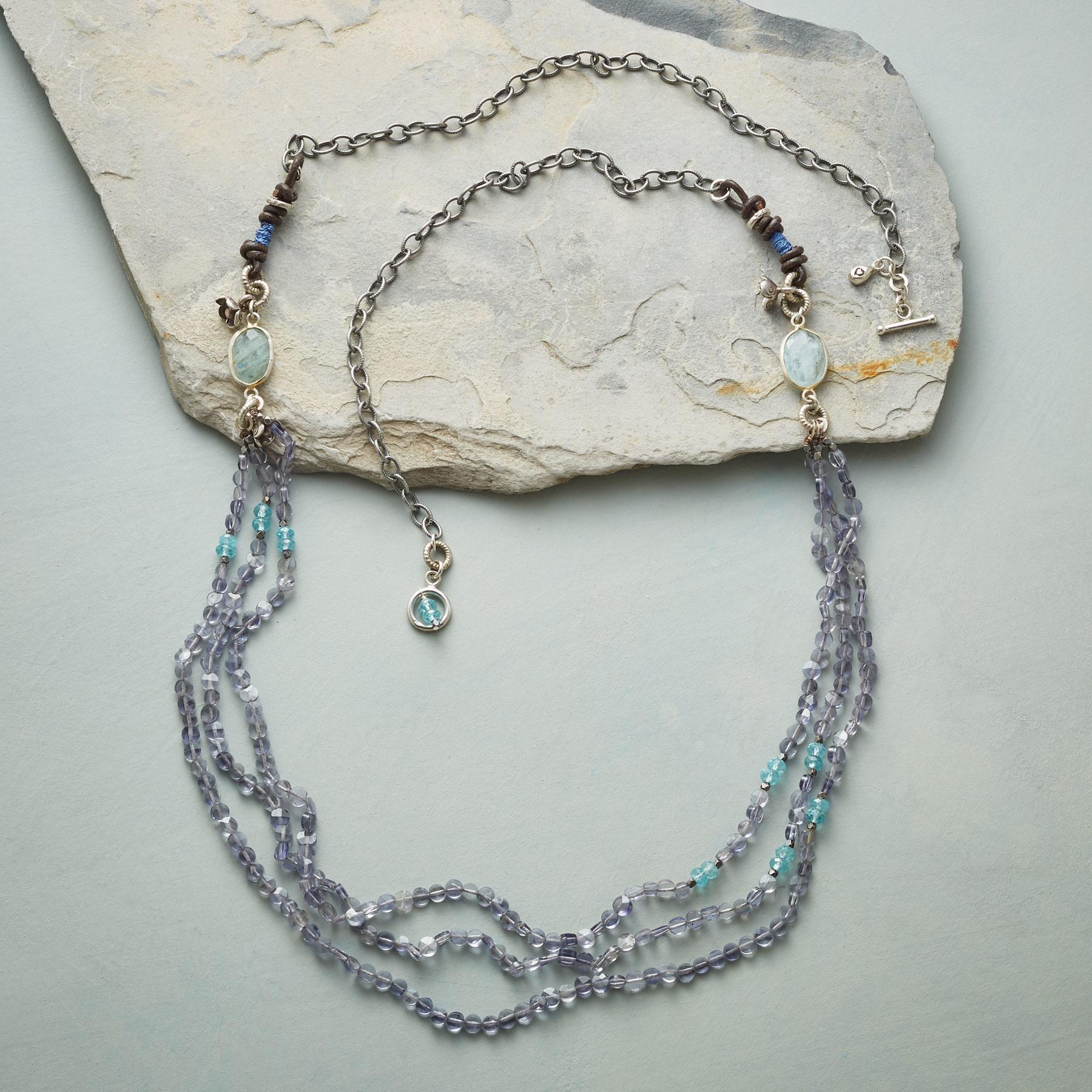 BLUE RAINBOW NECKLACE: View 2