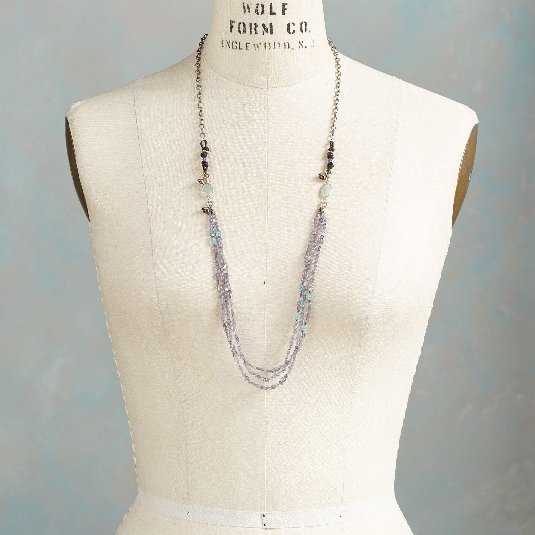 BLUE RAINBOW NECKLACE: View 4