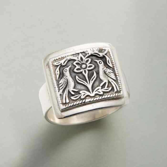 SILVER TAPESTRY RING