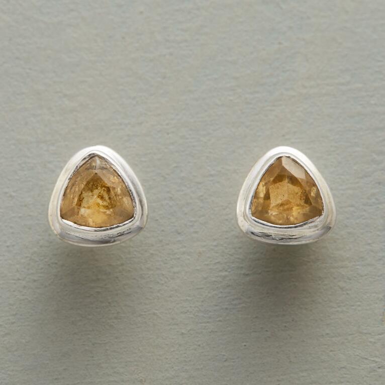 CITRINE TRILLION EARRINGS