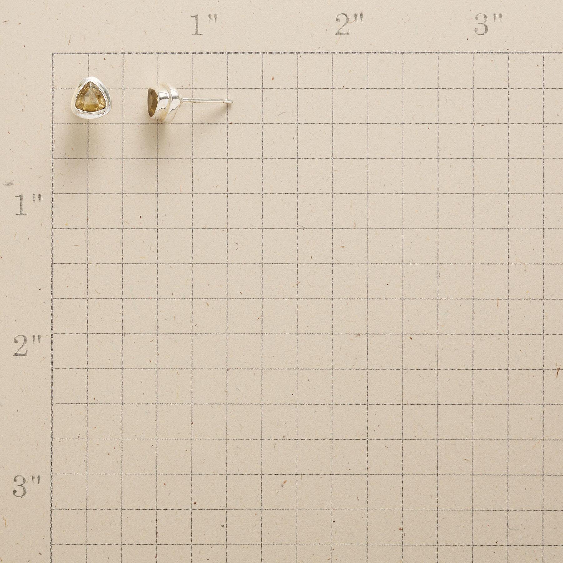 CITRINE TRILLION EARRINGS: View 2