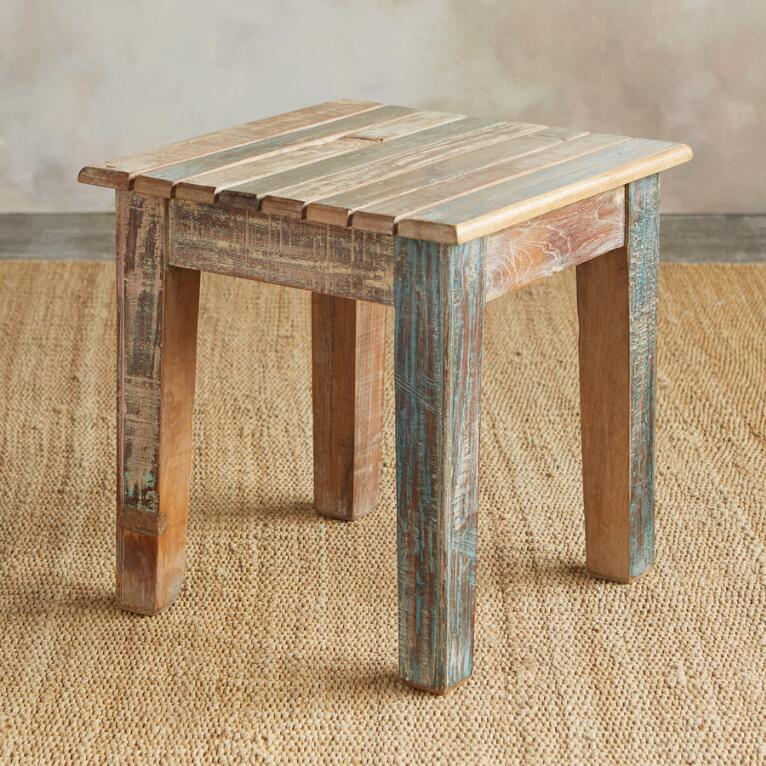 Reclaimed Adirondack Side Table View 2