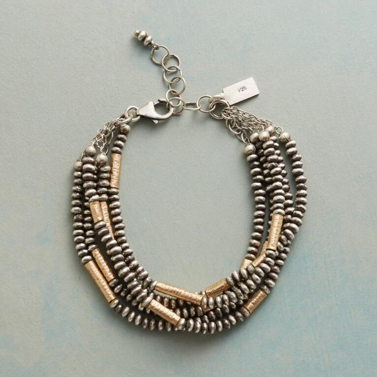 MIXED METAL 5 STRAND BRACELET