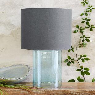 SALON GLASS CYLINDER TABLE LAMP