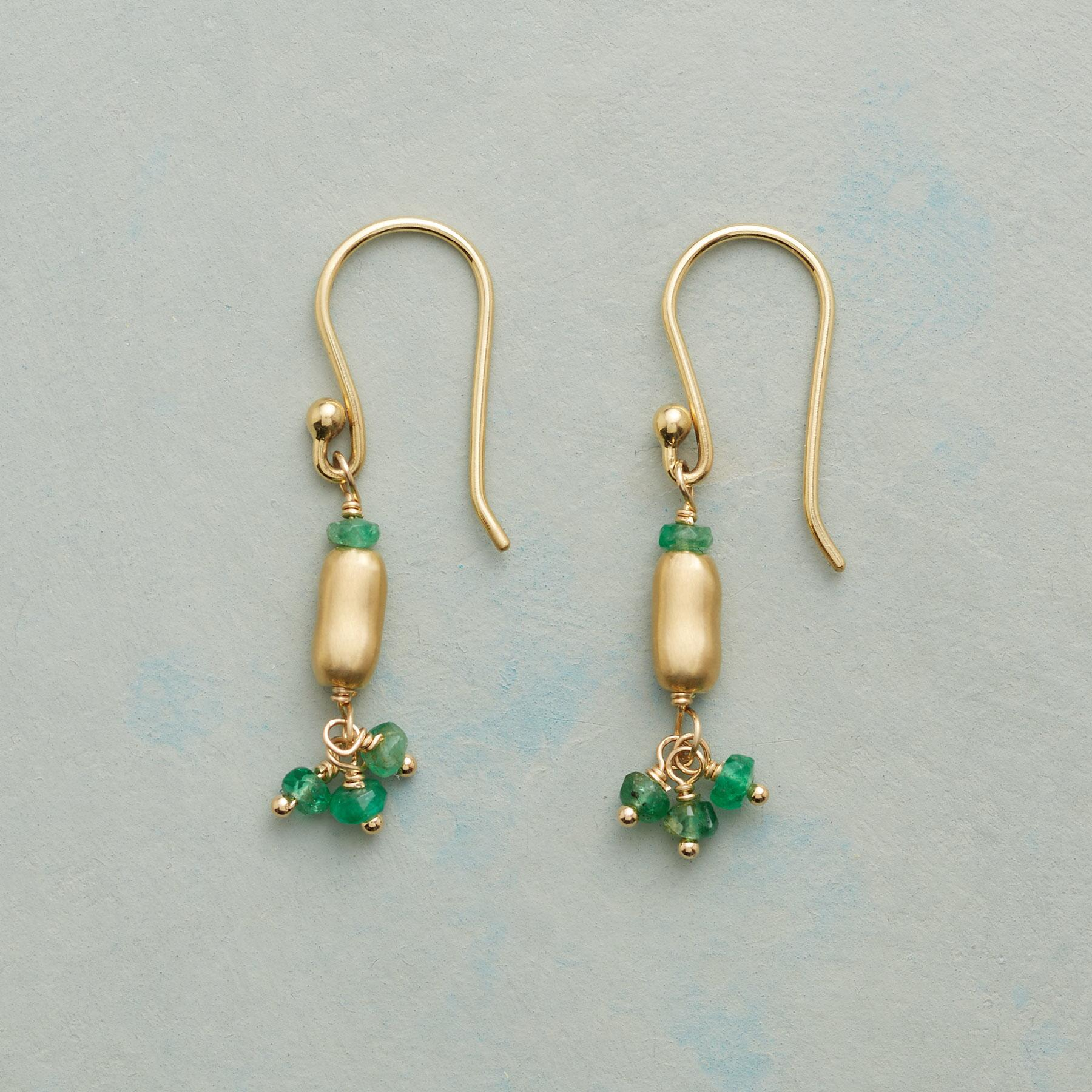 EMERALD RAIN EARRINGS: View 1