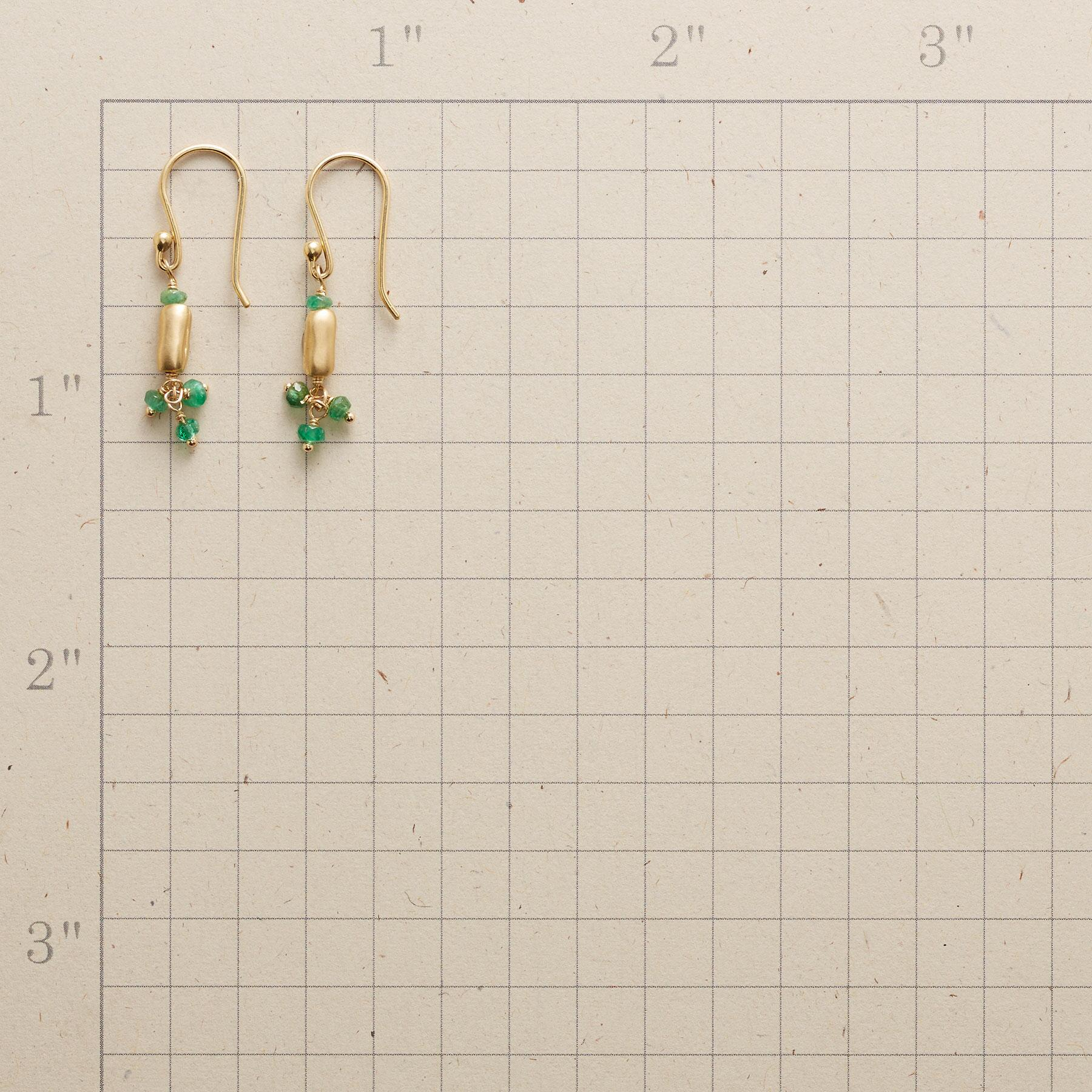 EMERALD RAIN EARRINGS: View 2