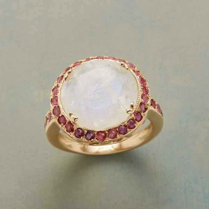 RUBY MOON RING