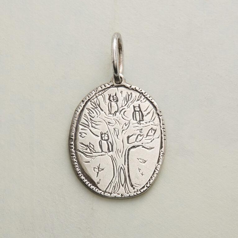 STERLING SILVER STRONG + WISE CHARM