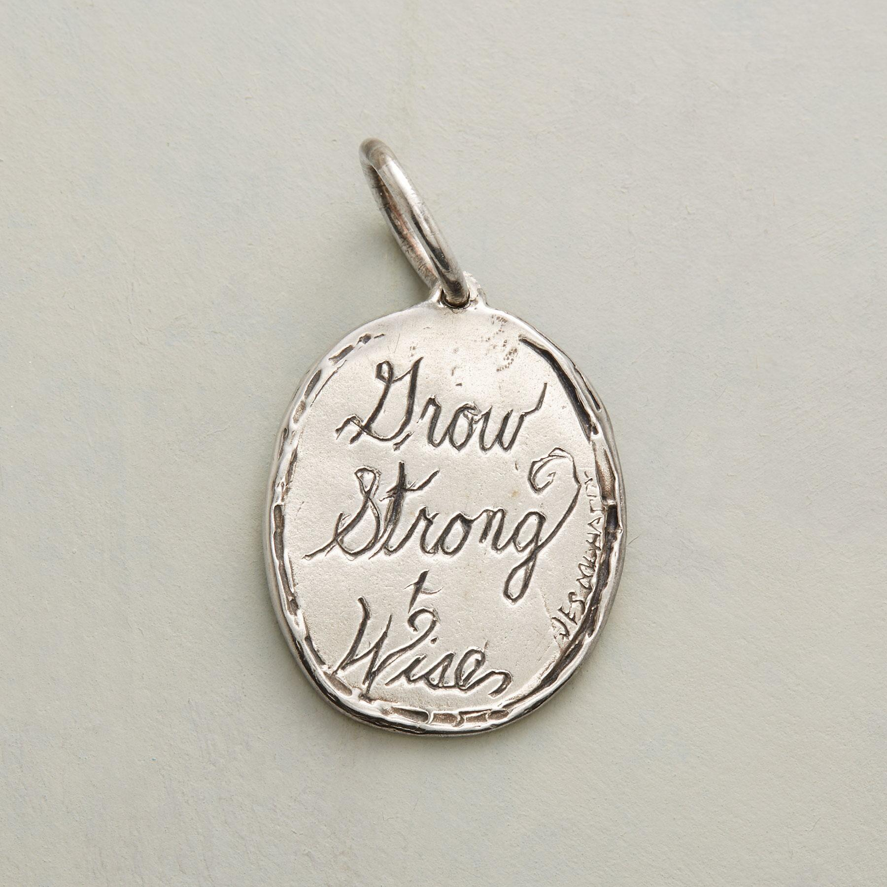 STERLING SILVER STRONG + WISE CHARM: View 2