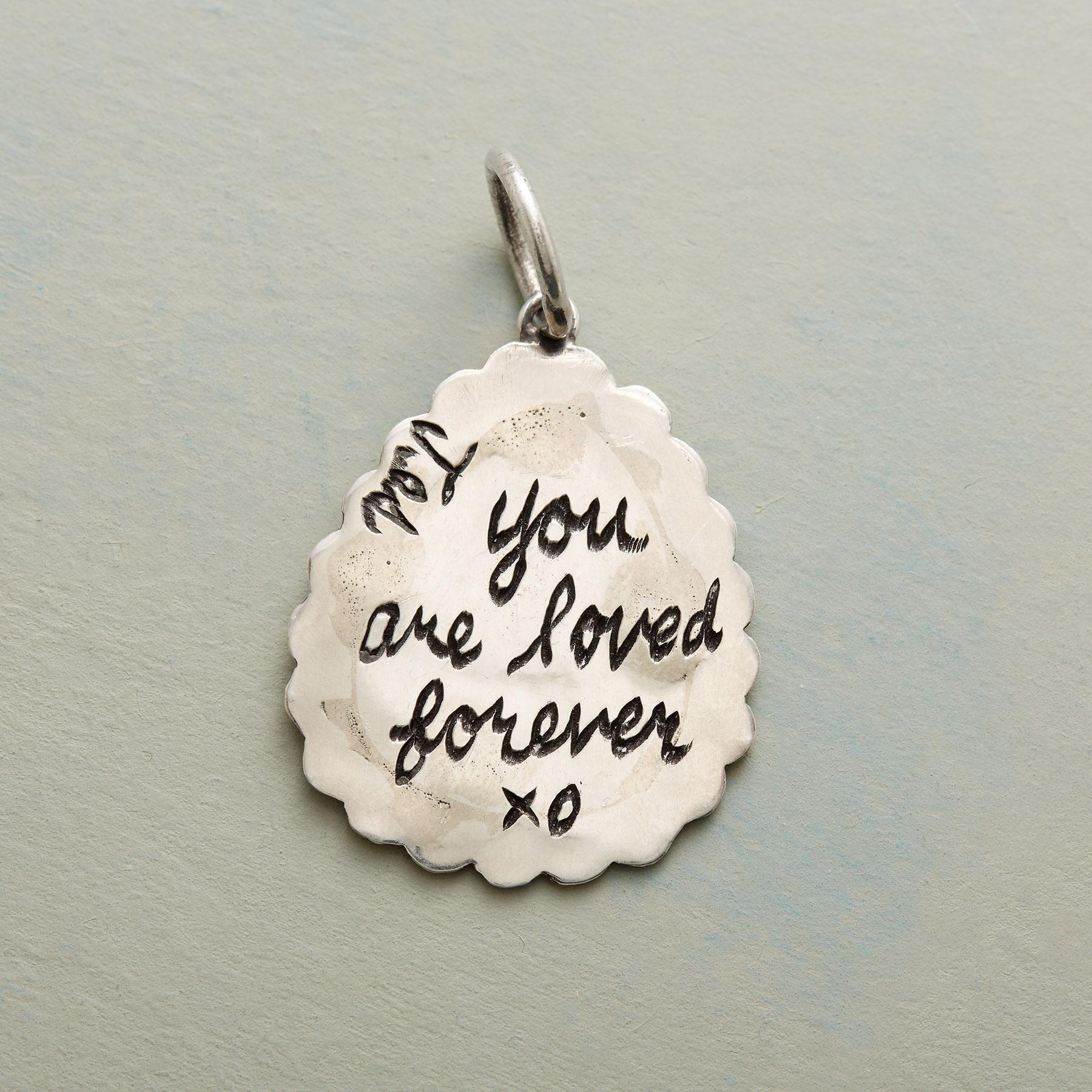 STERLING SILVER LOVED FOREVER CHARM: View 2
