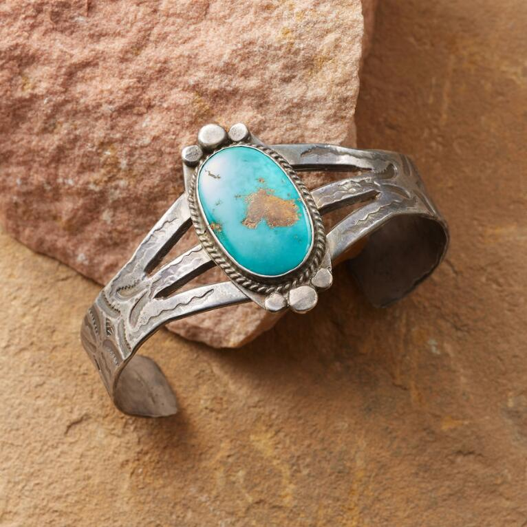 1940'S FRAMED TURQUOISE CUFF
