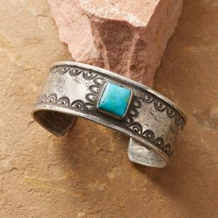 SCALLOPED TURQUOISE CUFF