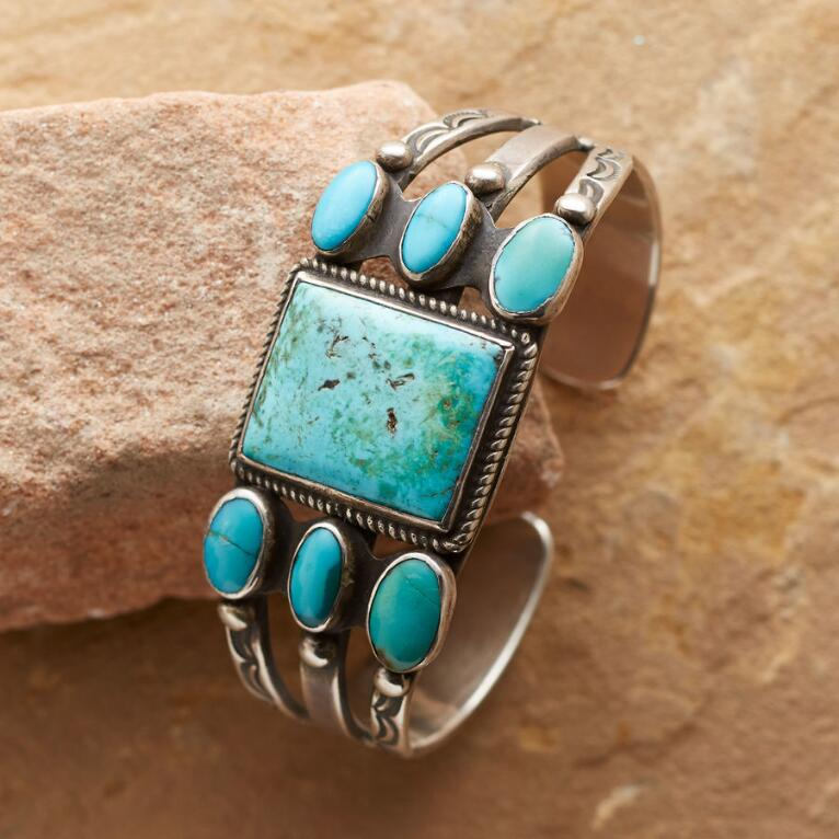 1920'S BLUE GEM TURQUOISE CUFF