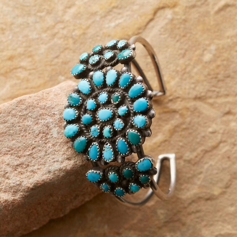 1930'S TURQUOISE BERRIES CUFF