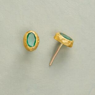 REGAL EMERALD EARRINGS