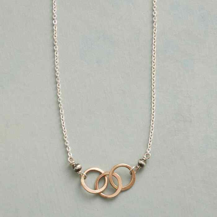 LINKED RING NECKLACE